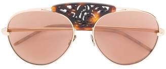Pomellato Eyewear embellished bridge sunglasses