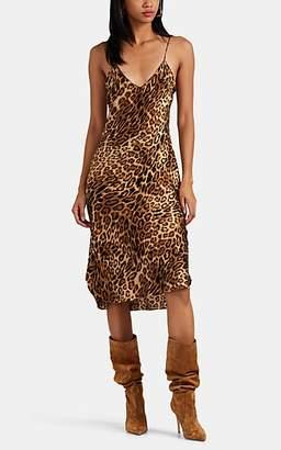 5e5512b37ad8 Nili Lotan Women's Ginger Leopard-Print Silk Slipdress - Beige, ...