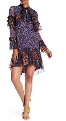 Anna Sui Birds & Roses Crepe Dress