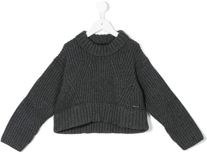 chunky knit fisherman sweater