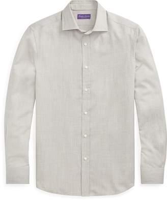 Ralph Lauren Tick-Weave Wool-Silk Shirt