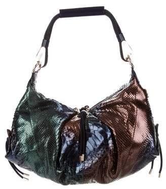 Versace Snakeskin Shoulder Bag