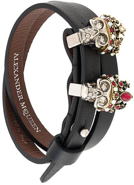 Alexander McQueenAlexander McQueen queen and king skull bracelet