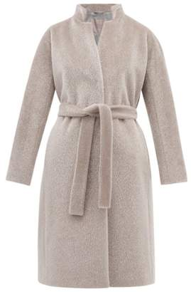 Herno Belted Faux Fur Coat - Womens - Silver