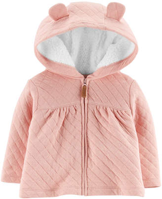Carter's Baby Girls Hooded Jacket with Fleece Lining