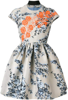 Fendi floral flared dress