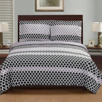 Superior Sutton Premium Cotton Reactive Print Reversible Duvet Cover Set