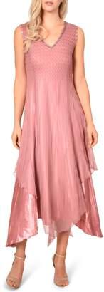 Komarov New Chiffon Sleeveless Evening Dress with Shawl