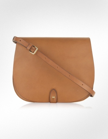 Ralph Lauren Collection Saddle Medium Leather Shoulder Bag