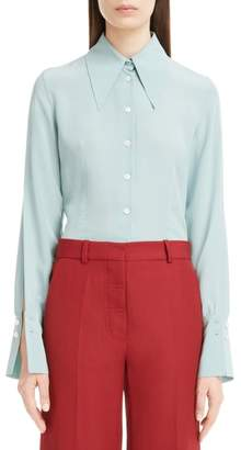 Victoria Beckham Split Sleeve Silk Shirt