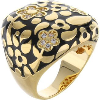 Ralph Lauren G. Adams G Adams Goldtone Colored Enamel Floral Cocktail Ring