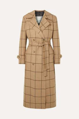 Giuliva Heritage Collection Christie Checked Merino Wool Coat - Sand