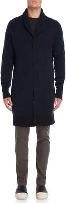 Transit Uomo Shawl Collar Longline Alpaca Cardigan