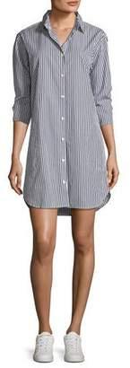 Kule Long-Sleeve Striped Button-Down Shirtdress