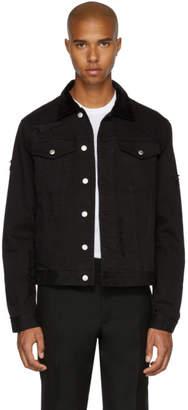 Alexander McQueen Black Shredded Denim Jacket