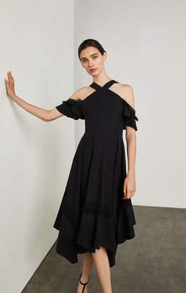 BCBGMAXAZRIA Off-The-Shoulder Handkerchief Dress