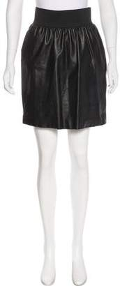 Jenni Kayne Knee-Length Leather Skirt