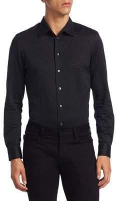 Armani Collezioni Jersey Cotton Button-Down Shirt
