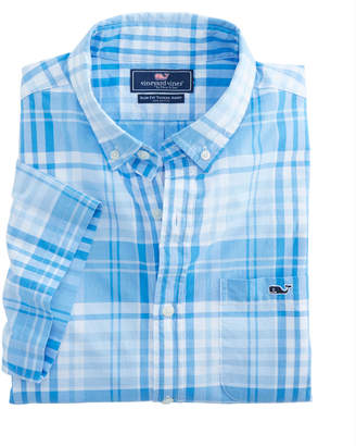 Vineyard Vines Short-Sleeve Crawfish Plaid Slim Tucker Shirt