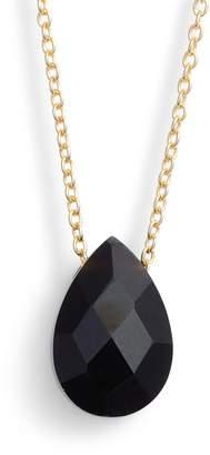 Argentovivo Stone Teardrop Pendant Necklace