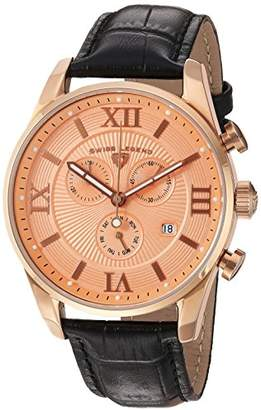 Swiss Legend Men's 'Bellezza' Swiss Quartz Stainless Steel and Leather Casual Watch