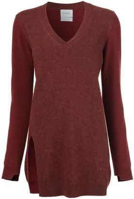 Barrie cashmere v-neck jumper