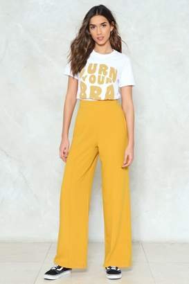 Nasty Gal Making Wide Strides High Waisted Pants