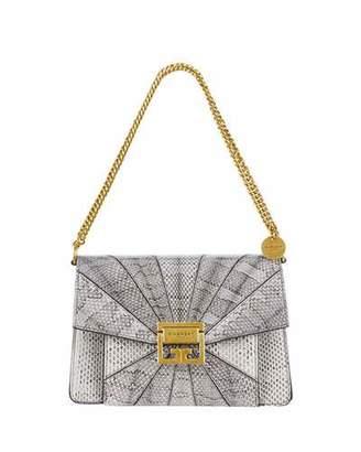 Givenchy GV3 Small Patchwork Snakeskin Shoulder Bag