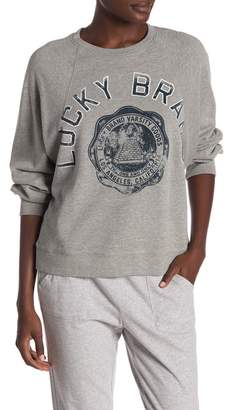 Lucky Brand Lucky Varsity Graphic Pullover