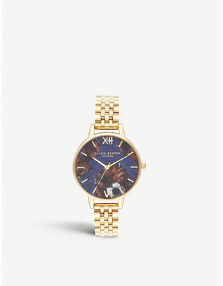 Olivia Burton OB16SP13 Semi-precious yellow gold-plated and lapis lazuli watch