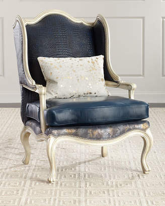 Massoud Darling Leather Wing Chair