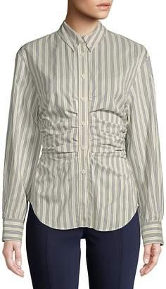Isabel Marant Women's Collared Stripe Shirt