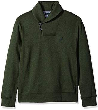 Nautica Men's Long Sleeve Shawl Collar Pullover