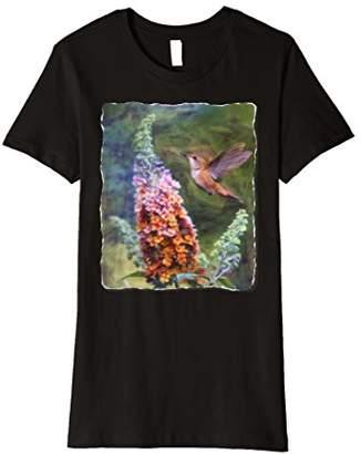 Womens Hummingbird Shirt for Women Tropical Bird Lover Gift