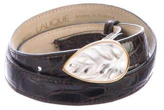 Lalique Leaf Crocodile Belt