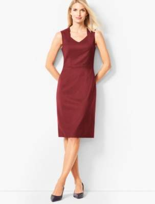 Talbots Luxe Italian Flannel Sheath Dress