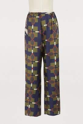 Ezan La Prestic Ouiston racket-print pants