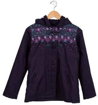 Catimini Girls' Printed Zip-Up Coat w/ Tags