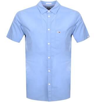 Tommy Jeans Short Sleeved Poplin Shirt Blue