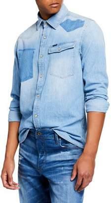 G Star G-Star Men's 3301 Light Vintage Aged Denim Shirt