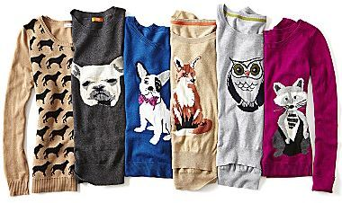 JCPenney Animal Sweaters