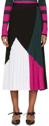 Proenza Schouler Multicolor Pleated Knit Skirt