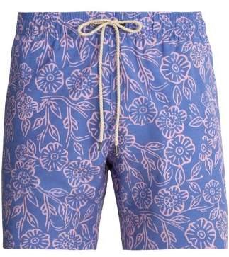 Faherty Beacon Poppy Print Swim Shorts - Mens - Purple Multi
