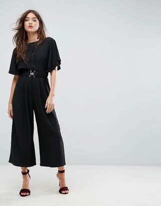 Asos DESIGN Tea Jumpsuit with Elasticated Belt