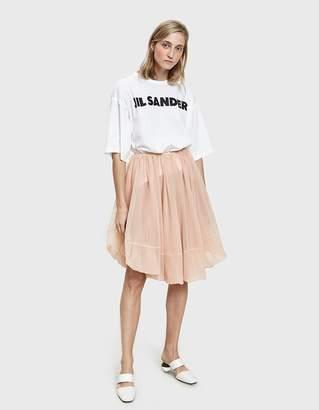 Jil Sander Pink Mesh Skirt