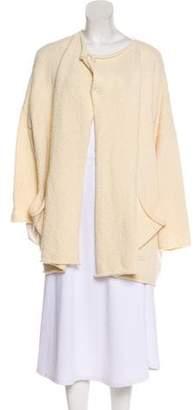 eskandar Long Sleeve Wool Cardigan