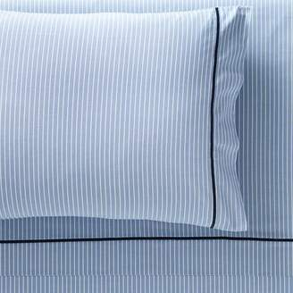 Pottery Barn Teen Oxford Stripe Sheet Set, Twin/Twin XL, Blue