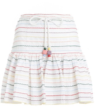 Zimmermann Zinnia Scallop Stripe Skirt