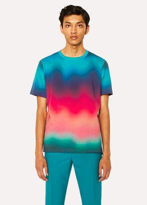 Paul Smith Men's Multi-Coloured Gradient Cotton T-Shirt
