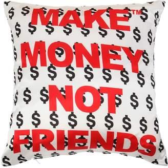 Logo Printed Cotton Pillow